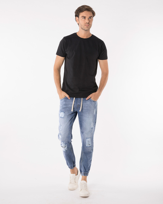 Shop Harbor Blue Denim Joggers