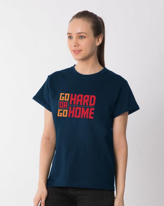 Shop Hard Home Boyfriend T-Shirt-Back