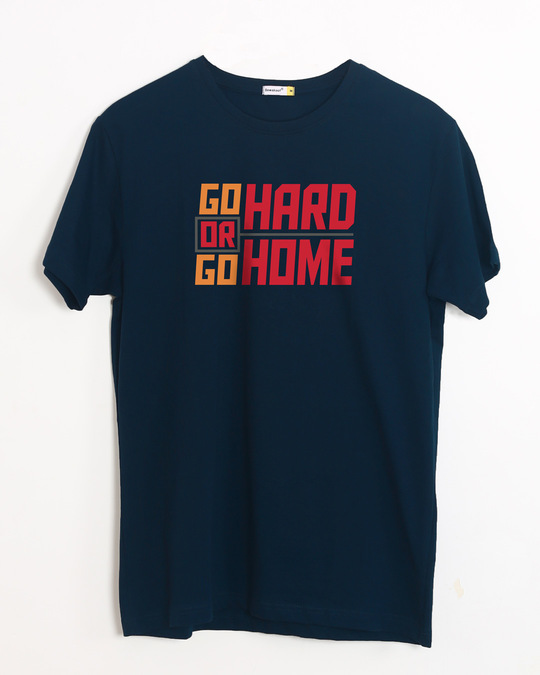 Shop Hard Home Half Sleeve T-Shirt-Front