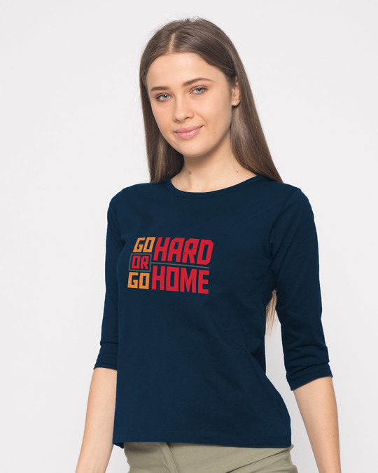 Shop Hard Home Round Neck 3/4th Sleeve T-Shirt-Back