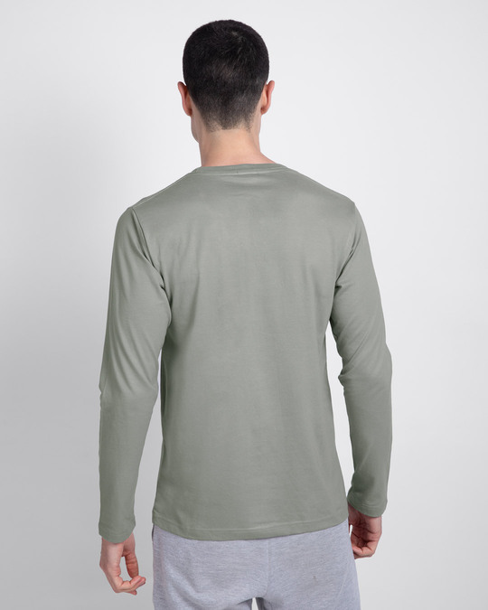 Shop Hard To Love Full Sleeve T-Shirt Meteor Grey-Back