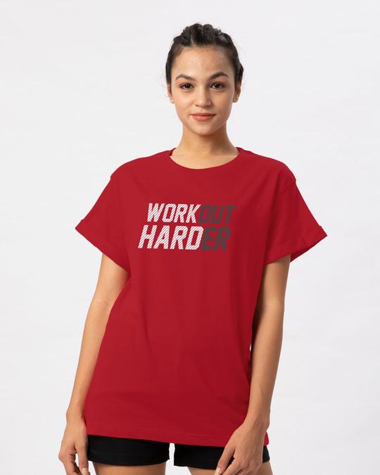 Shop Hard Work Boyfriend T-Shirt-Front