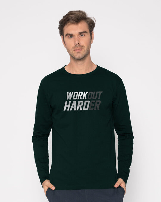 Shop Hard Work Full Sleeve T-Shirt-Front