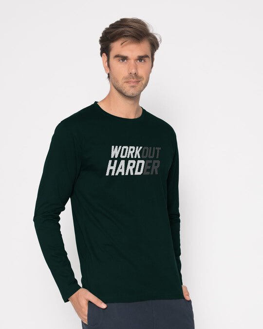 Shop Hard Work Full Sleeve T-Shirt-Back