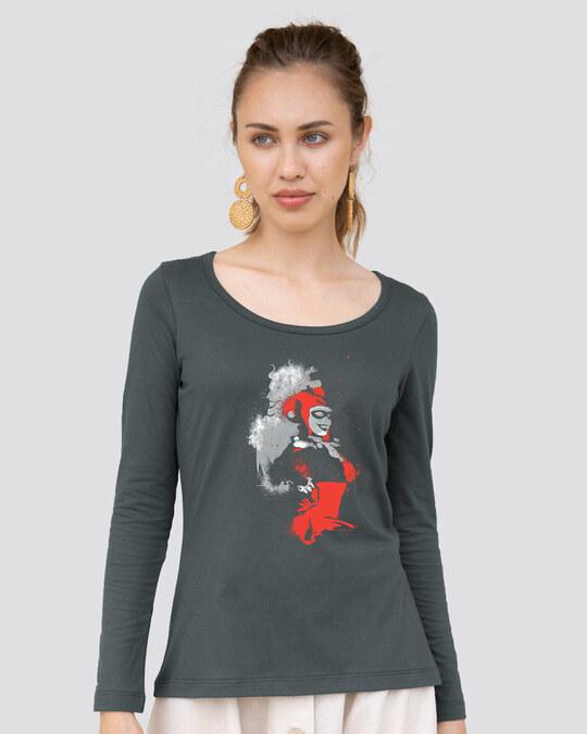 Shop Harley Splash Scoop Neck T-Shirt (BML)-Front