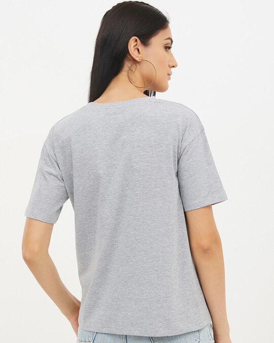 Shop Women Round Neck Short Sleeves Printed T Shirt-Full