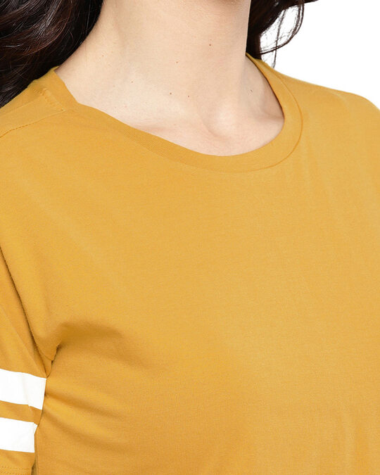 Shop Women Round Neck Short Sleeves Solid Top