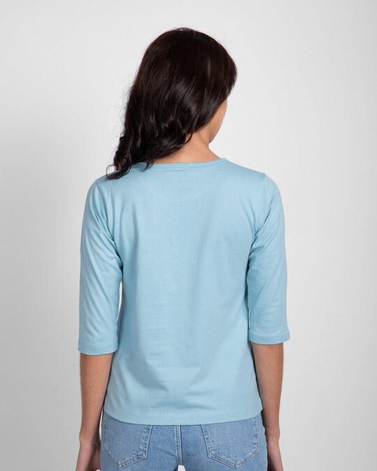 Shop Hashtag Sis Round Neck 3/4 Sleeve T-Shirts-Back