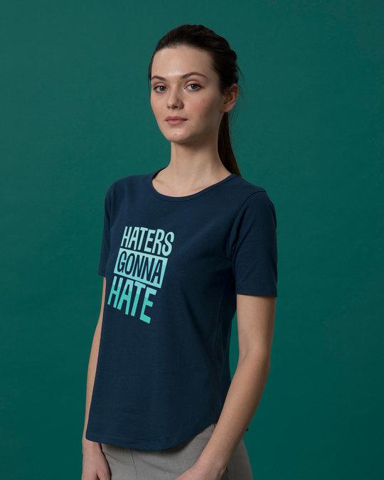Shop Haters Gonna Basic Round Hem T-Shirt-Back