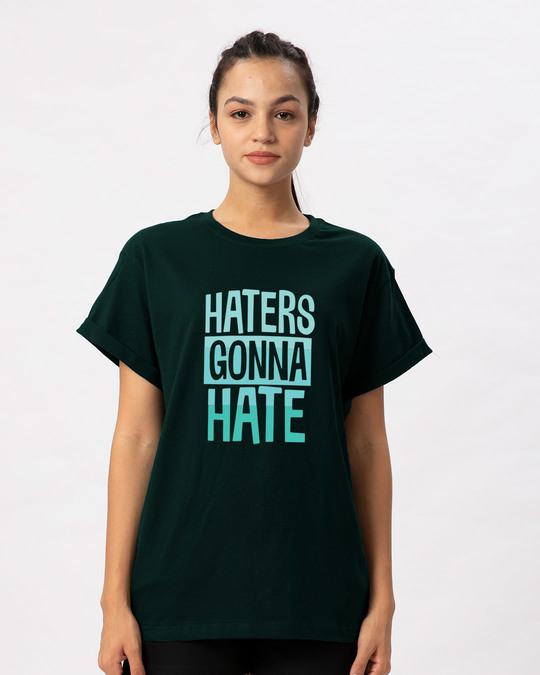 Shop Haters Gonna Boyfriend T-Shirt-Front