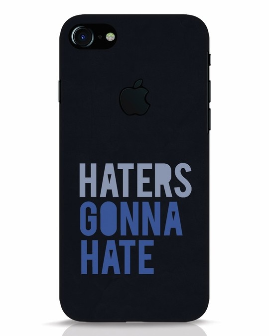 Shop Haters Gonna Hate iPhone 7 Logo Cut Mobile Cover-Front