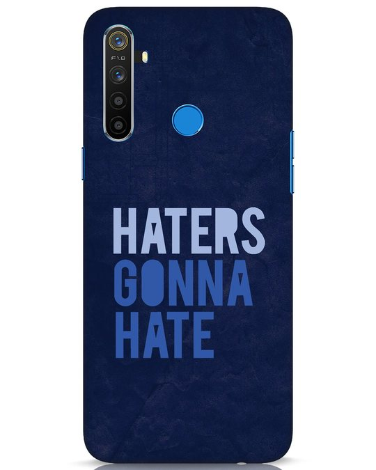 Shop Haters Gonna Hate Realme 5 Mobile Cover-Front