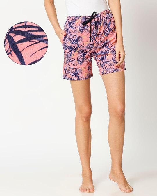 Shop Havana Peach Women's Boxer Shorts-Front