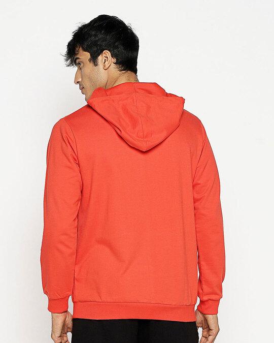 Shop Hazadous Fleece Hoodie Smoke Red-Full
