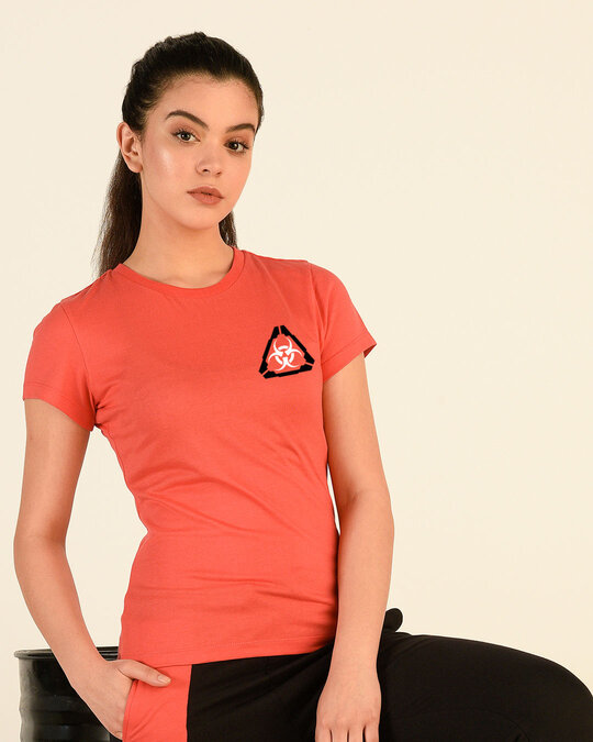 Shop Hazadous Half Sleeve T-Shirt Smoke Red-Front