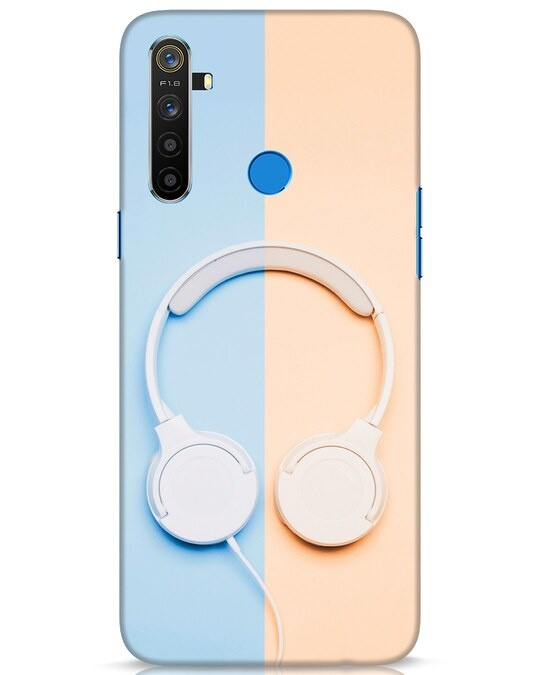 Shop Hazey Headphone Realme 5 Mobile Cover-Front