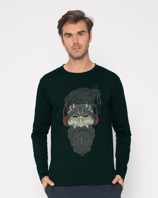 Shop Headphone Baba Full Sleeve T-Shirt-Front