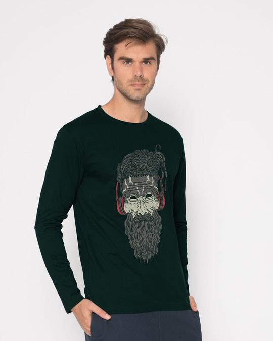 Shop Headphone Baba Full Sleeve T-Shirt-Back
