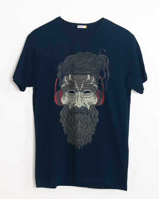Shop Headphone Baba Half Sleeve T-Shirt-Front