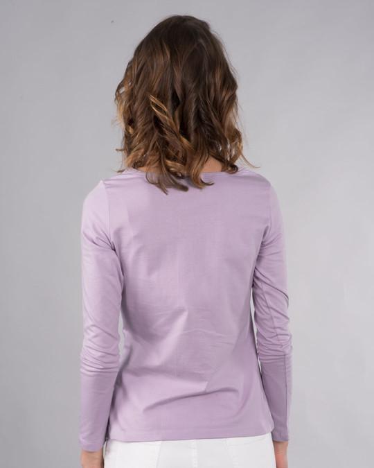 Shop Headphone Girl Scoop Neck Full Sleeve T-Shirt-Back