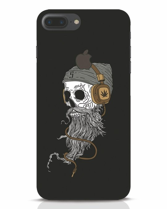 Shop Headphone Jack iPhone 7 Plus Logo Cut Mobile Cover-Front