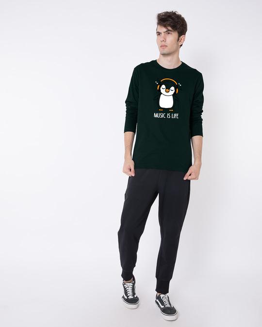 Shop Headphone Penguin Full Sleeve T-Shirt-Full