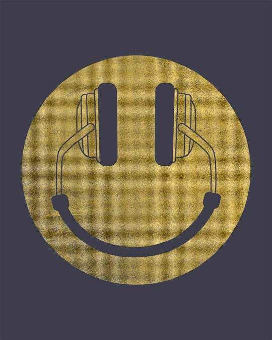 Shop Headphone Smiley Full Sleeve T-Shirt
