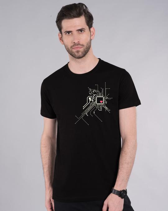 Shop Heart Chip Half Sleeve T-Shirt-Front