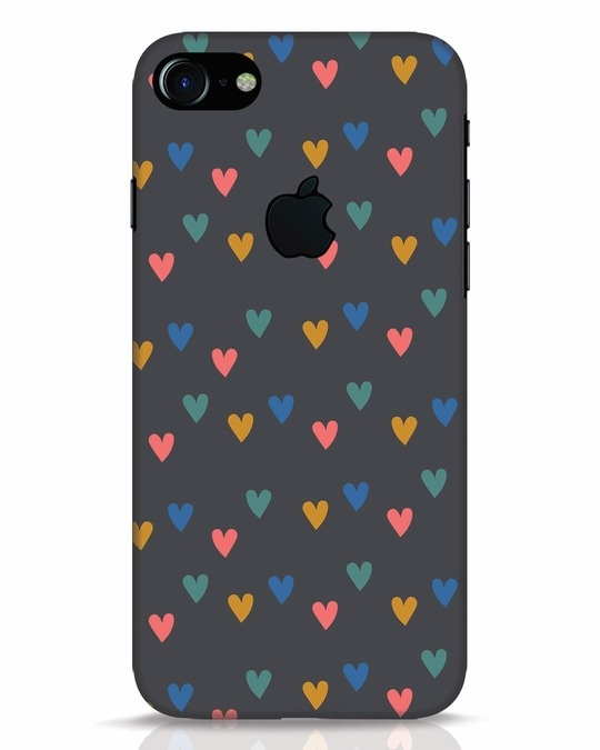 Shop Hearts iPhone 7 Logo Cut Mobile Cover-Front