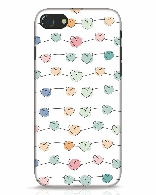 Shop Hearts iPhone 8 Mobile Cover-Front