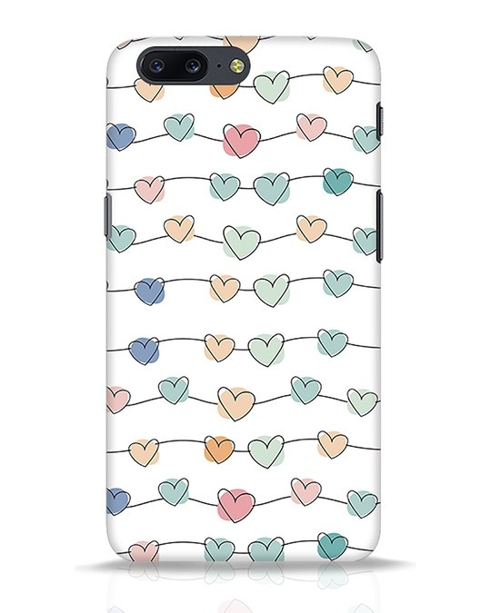 Shop Hearts OnePlus 5 Mobile Cover-Front