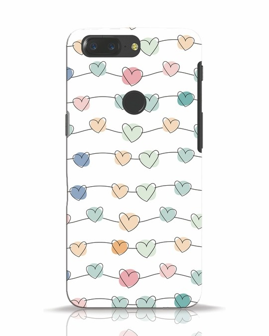 Shop Hearts OnePlus 5T Mobile Cover-Front