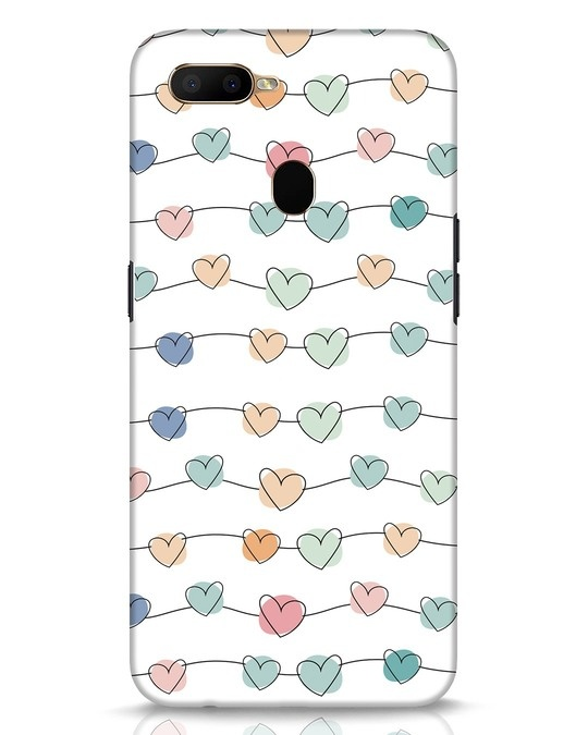 Shop Hearts Oppo A5s Mobile Cover-Front