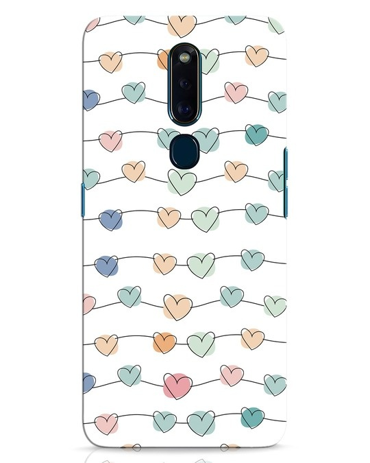 Shop Hearts Oppo F11 Pro Mobile Cover-Front