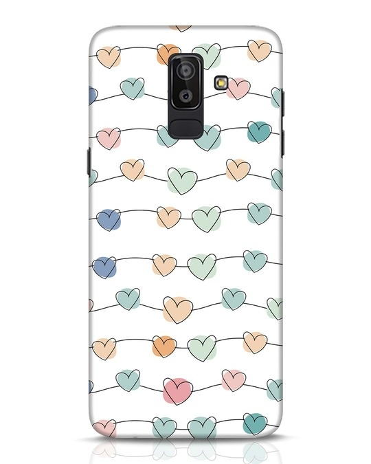 Shop Hearts Samsung Galaxy J8 Mobile Cover-Front