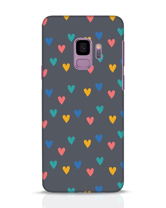 Shop Hearts Samsung Galaxy S9 Mobile Cover-Front