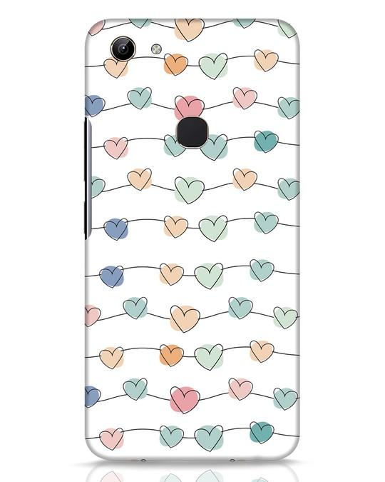 Shop Hearts Vivo Y81 Mobile Cover-Front