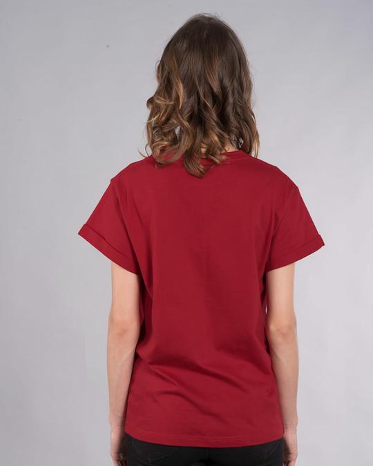 Shop Heavy Lifter Shinchan Boyfriend T-Shirt (SHL)-Back