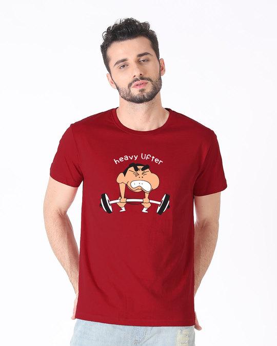 Shop Heavy Lifter Shinchan Half Sleeve T-Shirt (SHL)-Back