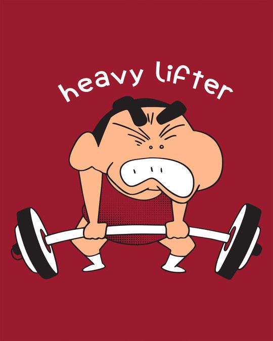 Shop Heavy Lifter Shinchan Scoop Neck Full Sleeve T-Shirt (SHL)-Full