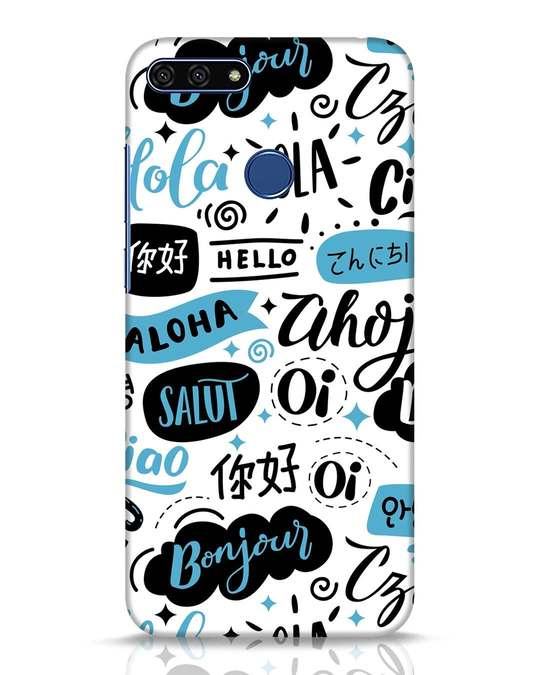 Shop Hello Huawei Honor 7A Mobile Cover-Front