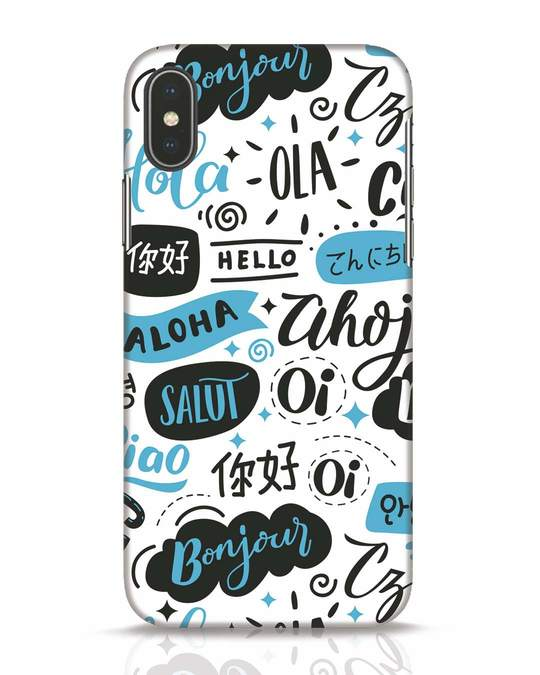 Shop Hello iPhone X Mobile Cover-Front