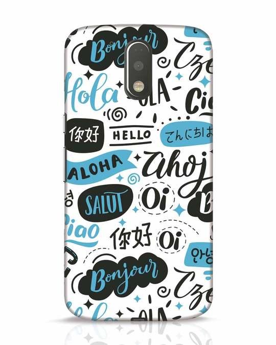 Shop Hello Moto G4 Plus Mobile Cover-Front