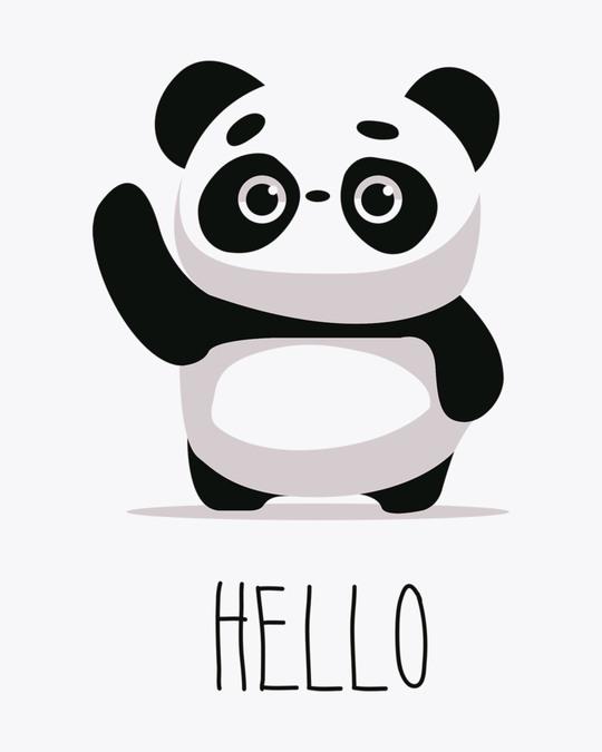 Shop Hello Panda Boyfriend T-Shirt