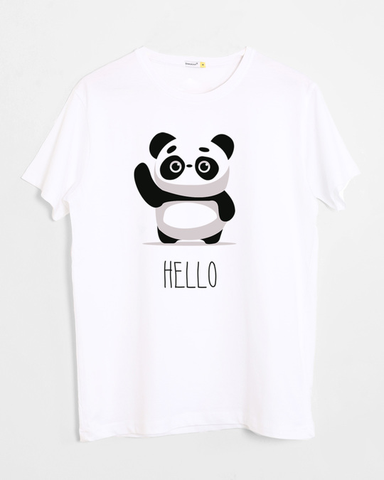 Shop Hello Panda Half Sleeve T-Shirt-Front