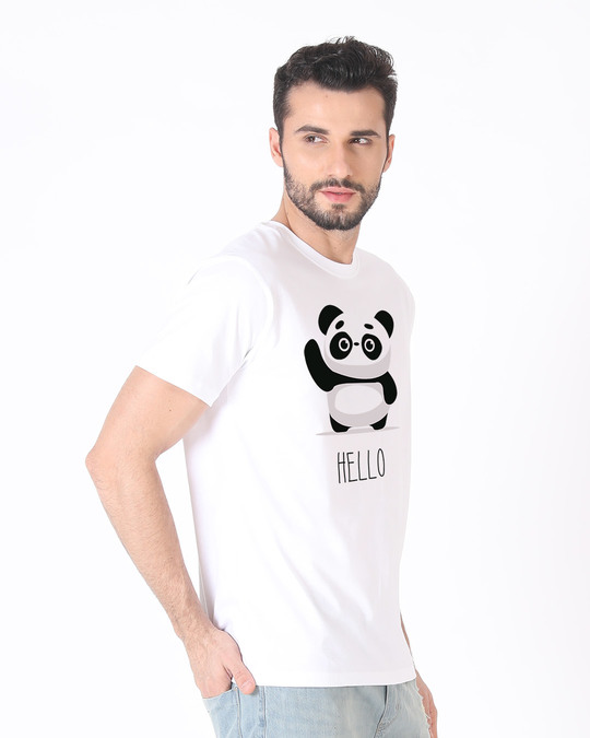 Shop Hello Panda Half Sleeve T-Shirt-Design