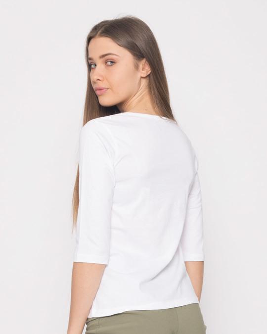 Shop Hello Panda Round Neck 3/4th Sleeve T-Shirt-Full
