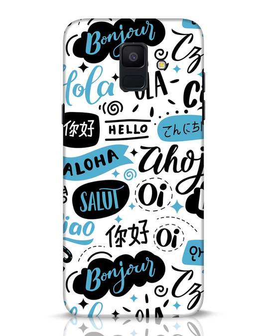 Shop Hello Samsung Galaxy A6 2018 Mobile Cover-Front