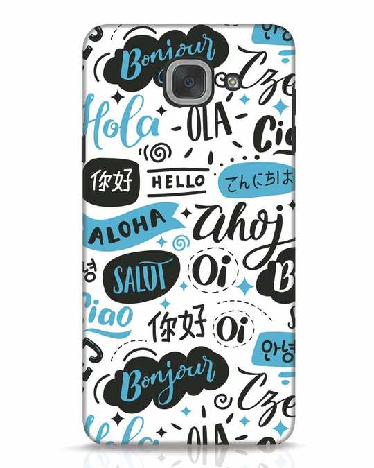 Shop Hello Samsung Galaxy J7 Max Mobile Cover-Front