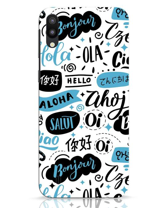 Shop Hello Samsung Galaxy M10 Mobile Cover-Front